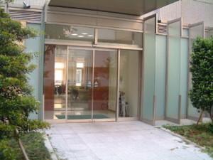 石井ホールの入り口。 日替わりランチが人気です。
