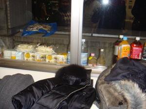 天然の冷蔵庫。外は冷蔵庫より冷たい!